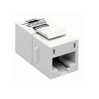 Istation Digital Av Keystone Connections, Rj-45 Coupler, F/F, Category 5E, Pass-Thru, Ivory