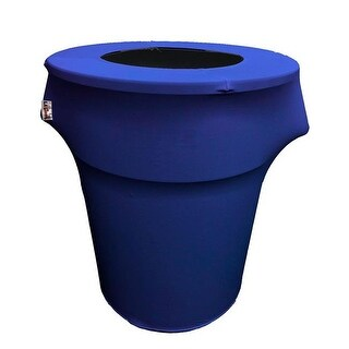 SpandexCover55G-RoyalX50 Stretch Spandex Trash Can Cover 55 gal