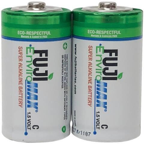 Fuji Batteries 4200BP2 EnviroMax C Super Alkaline Batteries, 2 pk