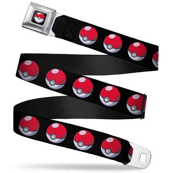 Pok Ball Full Color Black Pok Ball Repeat Black Webbing Seatbelt Belt Seatbelt Belt