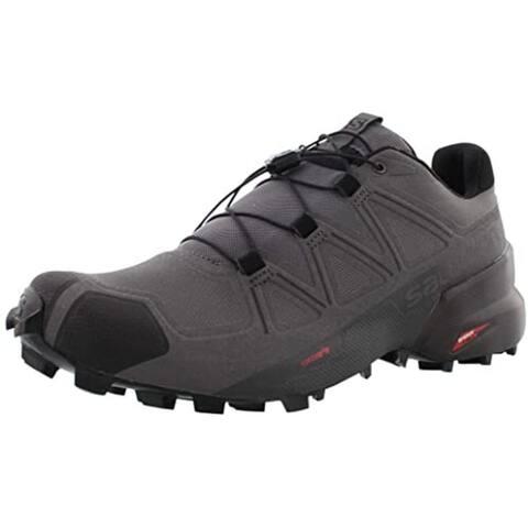 Salomon Men's Speedcross5 Trail Running Shoes,Magnet/Black/Phantom,9.5