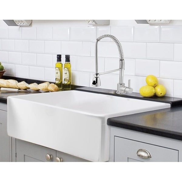 fireclay undermount kitchen sink shop farmhouse kitchen sink white single bowl fireclay 7205