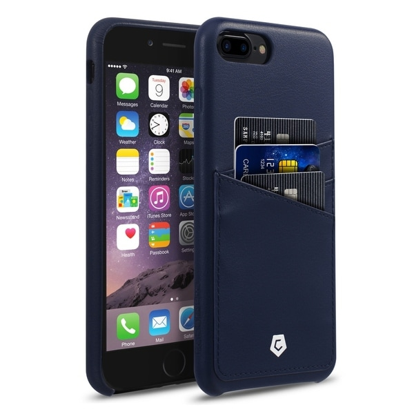 the original iphone shop cobblepro blue leather with wallet flap pouch 13101