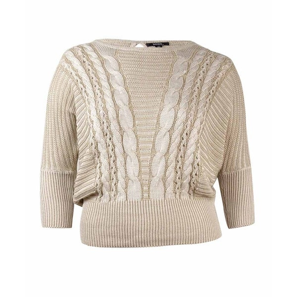 29e11b832 Shop XOXO Juniors  Cable Knit Keyhole Sweater - Taupe - xL - Free ...