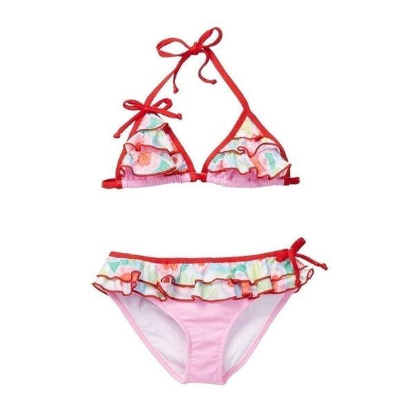 96174b06506 Shop Azul Little Girls Pink Sweet Jane Ruffled Bikini 2 Pc Swimsuit ...