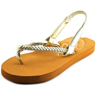 Roxy Cabo Toddler Open Toe Synthetic Gold Thong Sandal