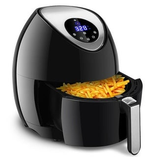 Gymax 1400W 7-in-1 Air Fryer 3.4Qt Oil Free Temperature&Time Control LCD Touch Screen