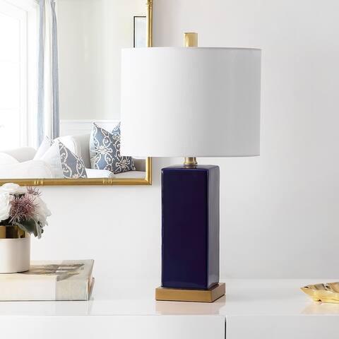 "Safavieh Lighting 22-inch Wendi Ceramic Table Lamp - 12"" x 12"" x 22"""