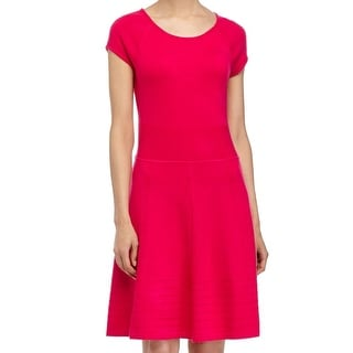 Eliza J NEW Pink Women's Size Small S A-Line Textured Sweater Dress