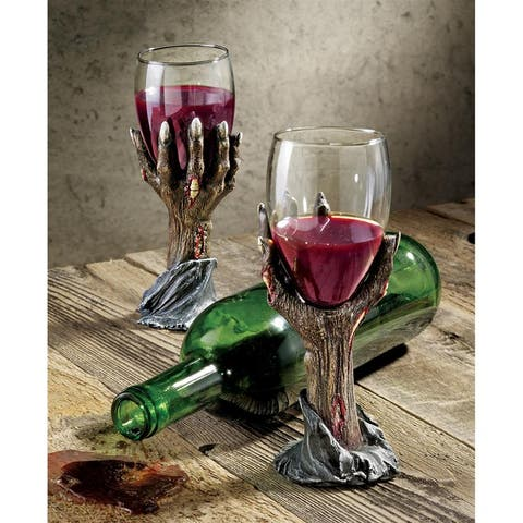 Design Toscano CL26064 Toast of The Zombie Goblet, Multicolored - Medium