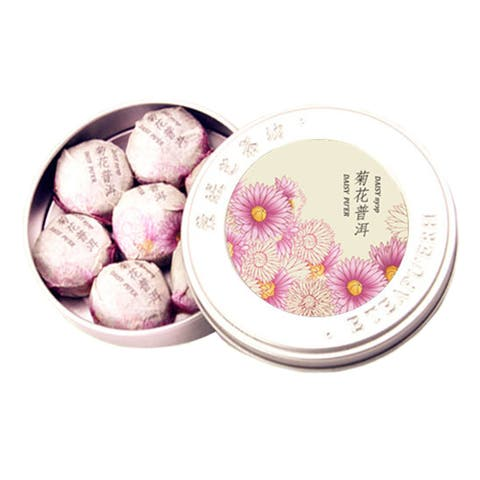 Chrysanthemum Puer Flower Tea Mini Small Ripe Cooked Tea 35g