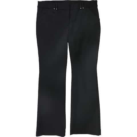 Alfani Womens Ponte-Knit Dress Pants, Black, 8