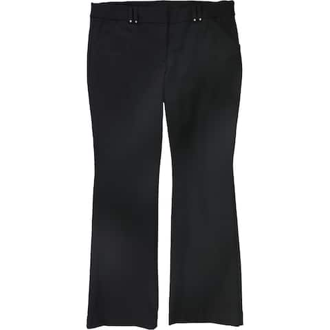 Alfani Womens Ponte-Knit Dress Pants, black, 16