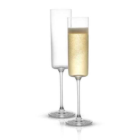 JoyJolt Claire Crystal Champagne Glasses 5.7 oz Set of 2