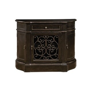 "Delacora HM-P050121 Marquis 42-1/2"" Wide Hardwood Bar/Wine Cabinet - weathered espresso - N/A"