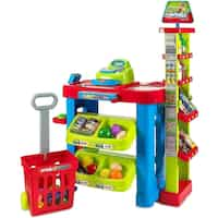 Deals on MEDca Creative Time Supermarket Super Fun Playset Shopping Cart