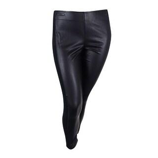 Ralph Lauren Women's Faux Leather Trim Leggings