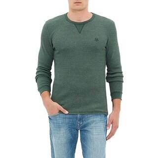 Mavi Men's Thermal Pullover Slim Fit Crewneck Sweatshirt Large L Green