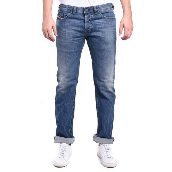 Diesel Men's Safado Regular Slim-Straight Denim Jeans 0R08M