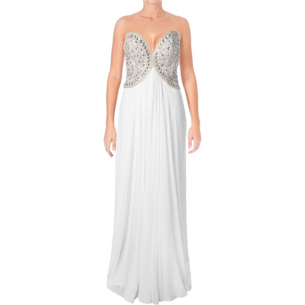 23ce2408f33 Shop Glamour by Terani Couture Womens Formal Dress Chiffon Strapless ...