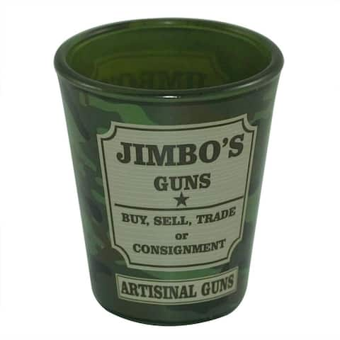 South Park Jimbo's Guns 1.5oz Camo Shot Glass - Green