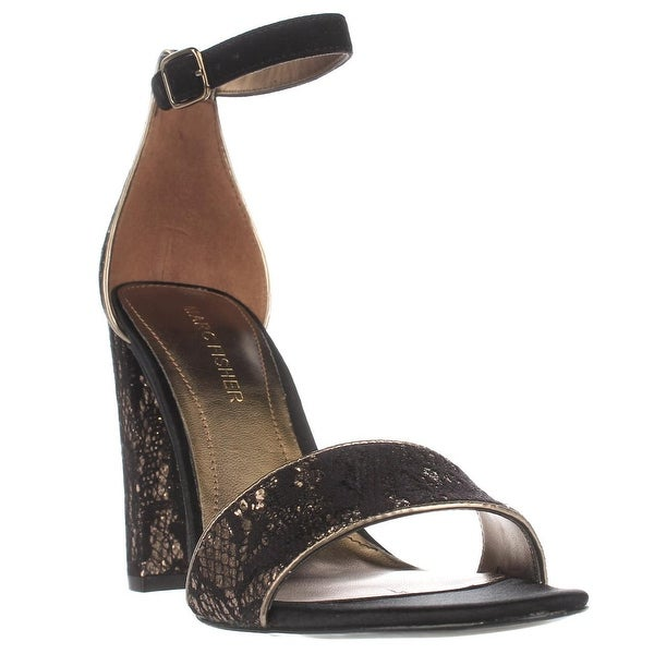Marc Fisher Factor4 Ankle Strap Dress Sandals, Black Multi