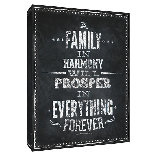 """PTM Images 9-154540 PTM Canvas Collection 10"""" x 8"""" - """"Family Inspiration II"""" Giclee Sayings & Quotes Art Print on Canvas"""
