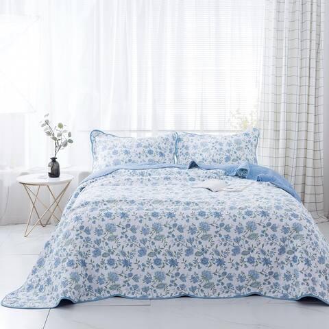 Kasentex Cotton Reversible 3-Piece Oversize Quilt Set