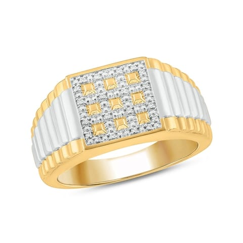 Cali Trove 10KT Yellow Gold with 1/20 ct TDW Mens Fashion Ring.