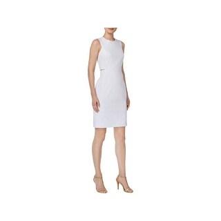 Calvin Klein Womens Wear to Work Dress Cut-Out Sheath