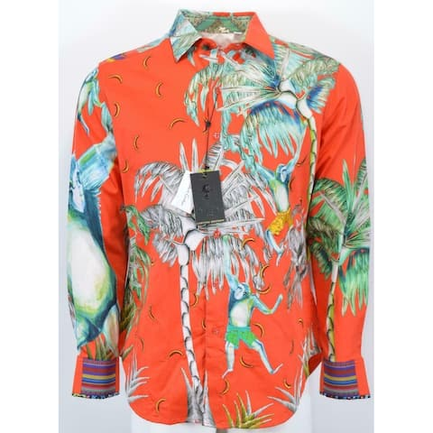 Robert Graham MONKEYING AROUND Embroidered Sequin Limited Edition Shirt 3XL
