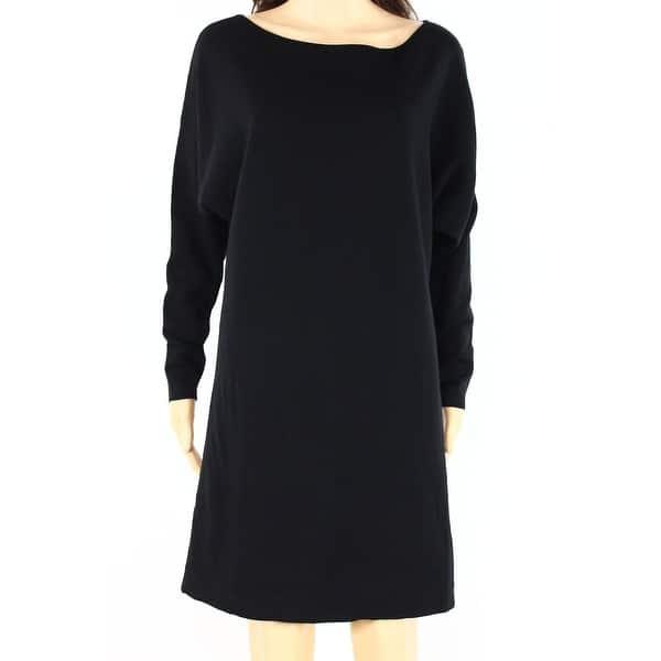 cdaa5a8463 Polo Ralph Lauren NEW Black Womens Size Small S Boat-Neck Sweater Dress ...
