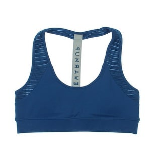 Jessica Simpson Womens Juniors The Warm Up Sports Bra High-Impact T-Back - L