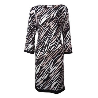 Calvin Klein Women's Stretch Animal Print Dress - Multi