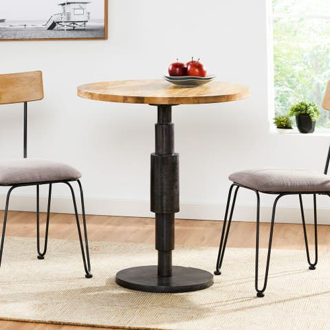 Mendon Mango Wood Handcrafted Pedestal Dining Table by Christopher Knight Home