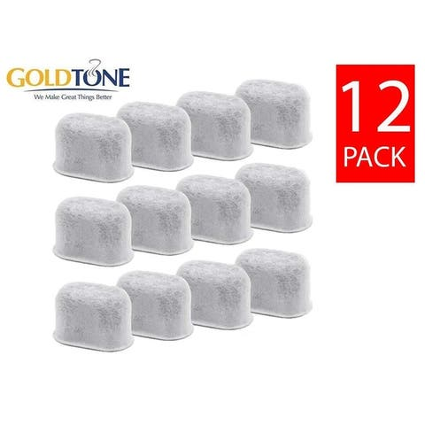 GoldTone Activated Charcoal Water Filters Fits All Breville Coffee Machines - BWF100 Replacement Filters - (12 Pack)