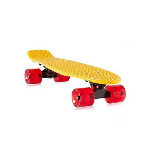 Complete Mini Cruiser Penny Style Skateboard street skate banana plastic Various colours - Yellow
