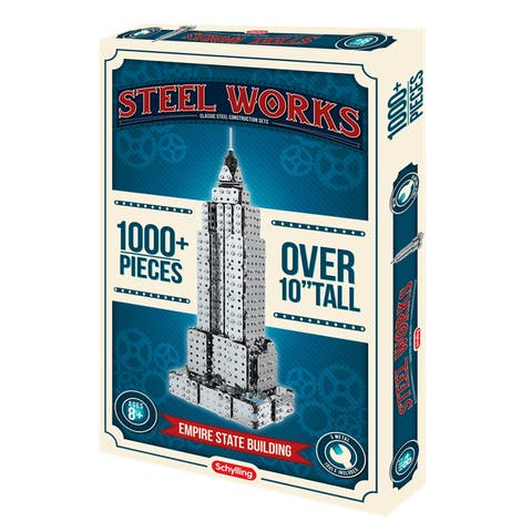 Schylling Steelworks 3D Metal Eiffel Tower Model Building Kit - 1000 Pieces - Eiffel Tower - 14 in. x 5 in. x 5 in.
