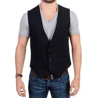 Costume National Costume National Black striped cotton casual vest