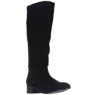 madden girl Persis Flat Knee-High Boots - Black