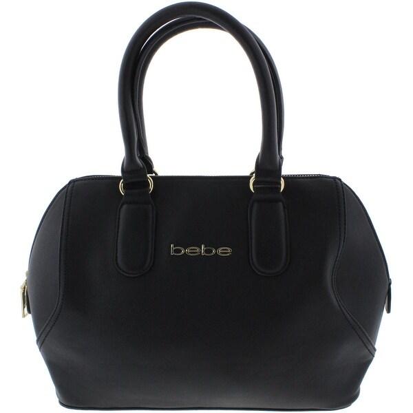 Bebe Womens Roxanne Satchel Handbag Faux Leather Lined
