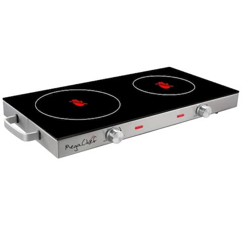 MegaChef Ceramic Infrared Double Electical Cooktop