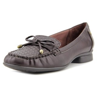 Life Stride Envy Women  Moc Toe Synthetic Brown Boat Shoe