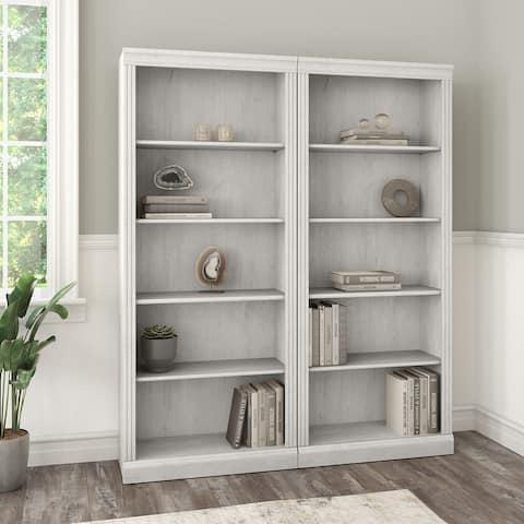 Saratoga Tall 5 Shelf Bookcase - Set of 2 by Bush Furniture