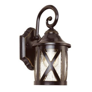 """Trans Globe Lighting 5129 1 Light 12.75"""" Outdoor Wall Sconce with Clear Seeded Glass"""