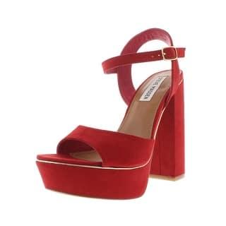 422b3e1d393 Steve Madden Womens Cosmic Dress Sandals Suede Block Heel. Quick View
