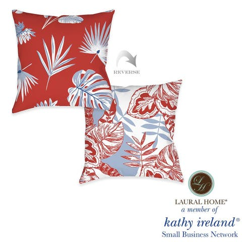 Laural Home kathy ireland® Small Business Network Member Palm Tropical Decorative Pillow