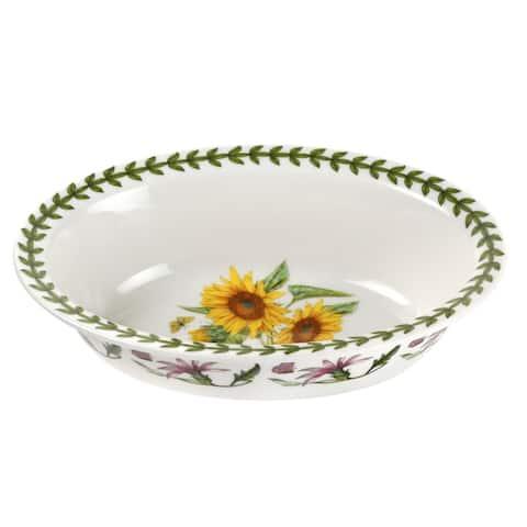 Portmeirion Botanic Garden Sunflower Oval Pie Dish - 8 inch