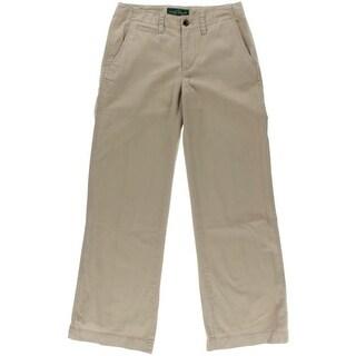 LRL Lauren Jeans Co. Womens Slimming Fit Super Stretch Khaki Pants - 2