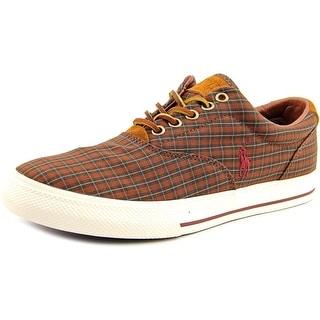Polo Ralph Lauren Vaughn Men Leather Brown Fashion Sneakers